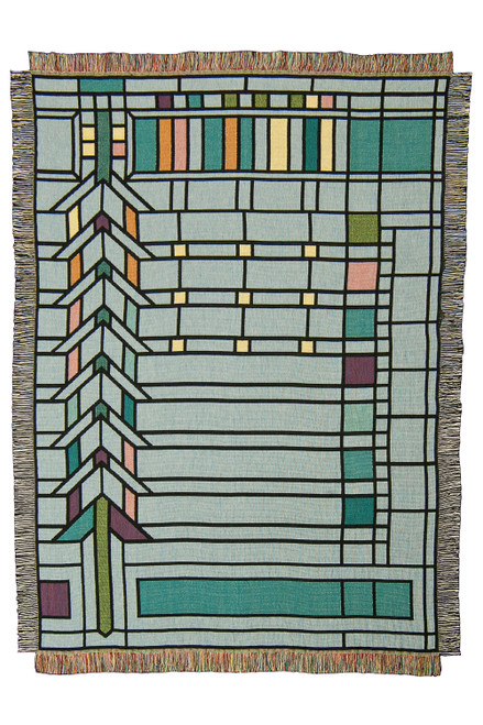 Frank Lloyd Wright Martin Window Throw Blanket