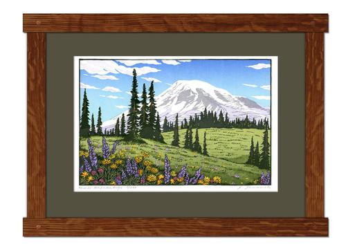Rainier - Mazama Ridge Framed Print