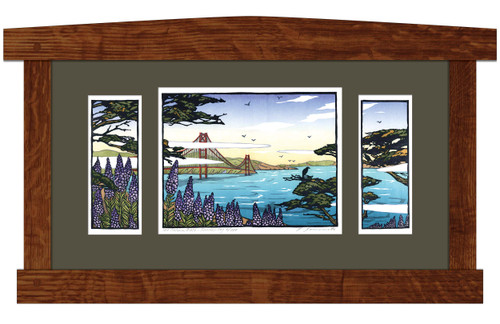 The Golden Gate - Summer Fog Framed Print by Yoshiko Yamamoto
