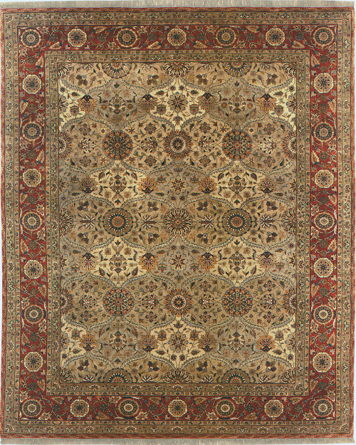 Mughal Lattice – Ivory/Coral Stickley Rug
