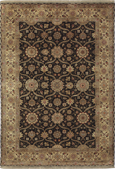 Mughal Silk Black Stickley Rug