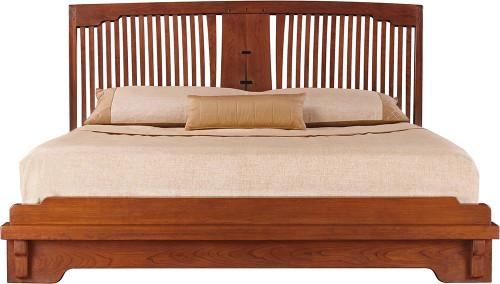 Oak Knoll Spindle Platform Bed by Stickley