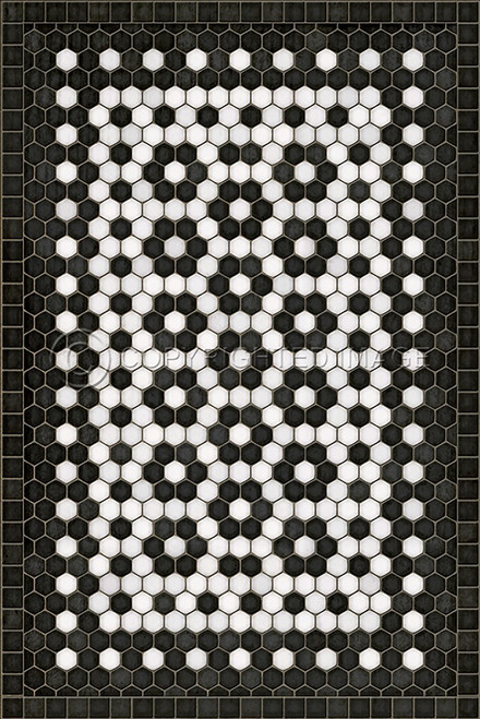 33073 MOSAIC C-CATHERINE ST 20 X 30 Vinyl Floor Cloth