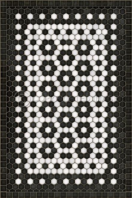 33073 MOSAIC C-CATHERINE ST 20 X 30 Vinyl Floor Cloth