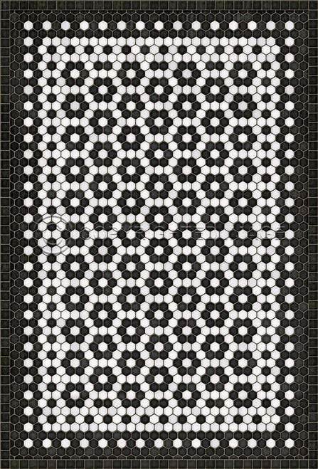 33074 MOSAIC C-CATHERINE ST 38 X 56 Vinyl Floor Cloth