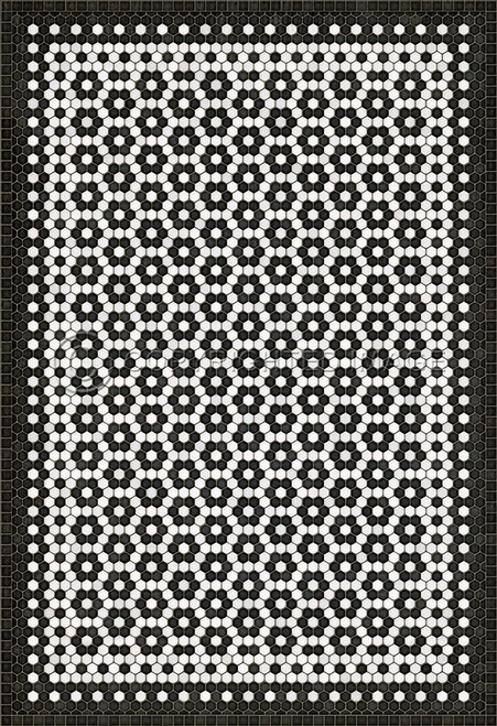 33075 MOSAIC C-CATHERINE ST 52 X 76 Vinyl Floor Cloth