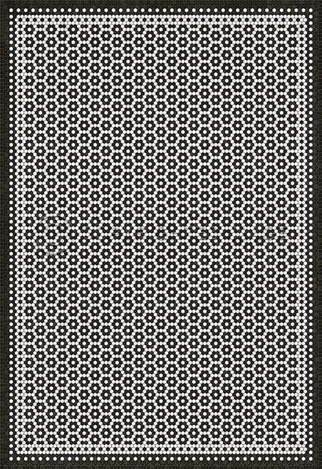 33077 MOSAIC C-CATHERINE ST 96 X 140 Vinyl Floor Cloth
