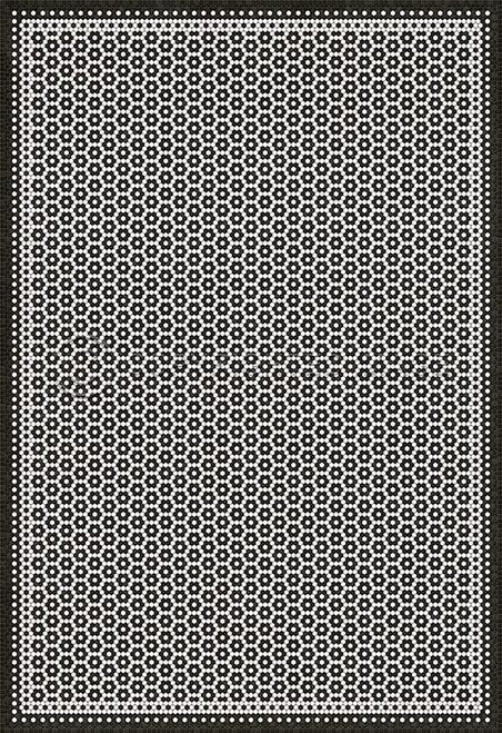 33078 MOSAIC C-CATHERINE ST 120 X 175 Vinyl Floor Cloth
