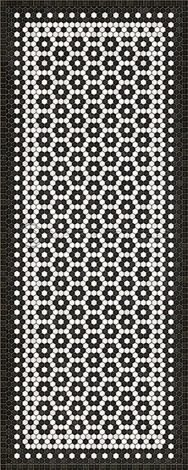 33079 MOSAIC C-CATHERINE ST 36 X 90 Vinyl Floor Cloth