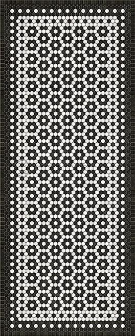 33079 MOSAIC C-CATHERINE ST 36 X 90 Vinyl Floor Cloth