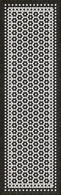 33080 MOSAIC C-CATHERINE ST 36 X 115 Vinyl Floor Cloth