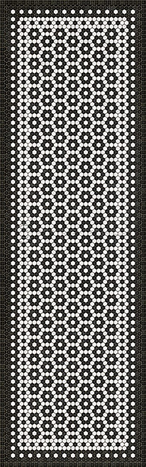 33080 MOSAIC C-CATHERINE ST 36 X 115 Vinyl Floor Cloth
