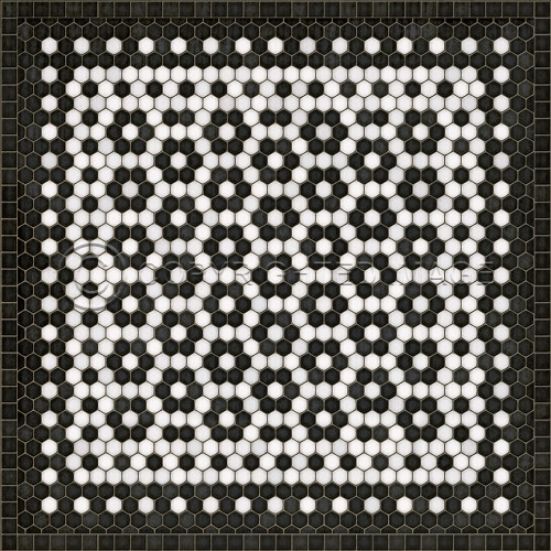33081 MOSAIC C-CATHERINE ST 36 X 36 Vinyl Floor Cloth