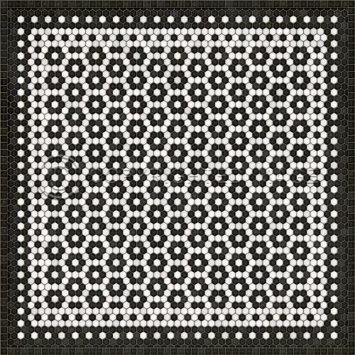 33083 MOSAIC C-CATHERINE ST 60 X 60 Vinyl Floor Cloth