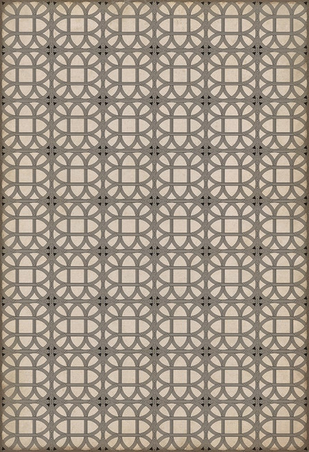 14150 LAMERIE LATTICE-JOSEPH WARD 52 X 76 Vinyl Floor Cloth