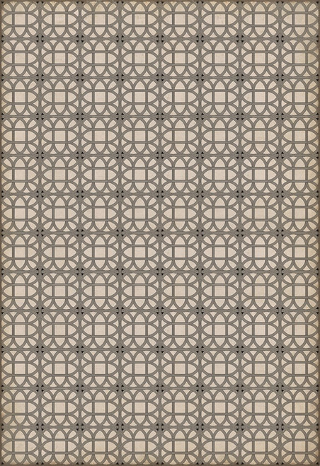14152 LAMERIE LATTICE-JOSEPH WARD 96 X 140 Vinyl Floor Cloth