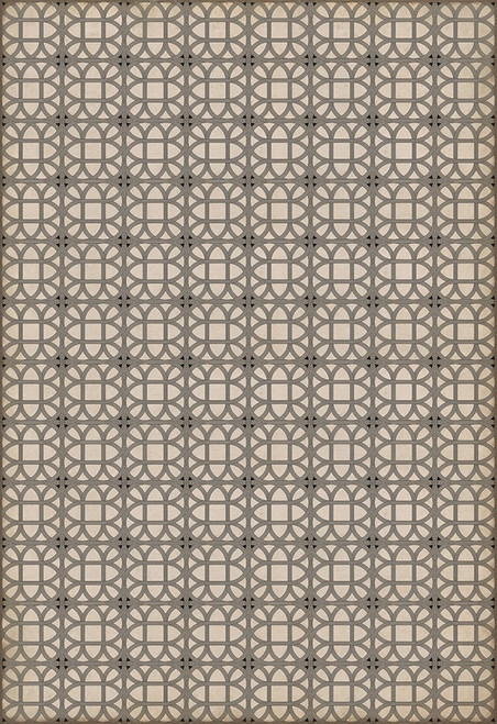 14153 LAMERIE LATTICE-JOSEPH WARD 120 X 175 Vinyl Floor Cloth
