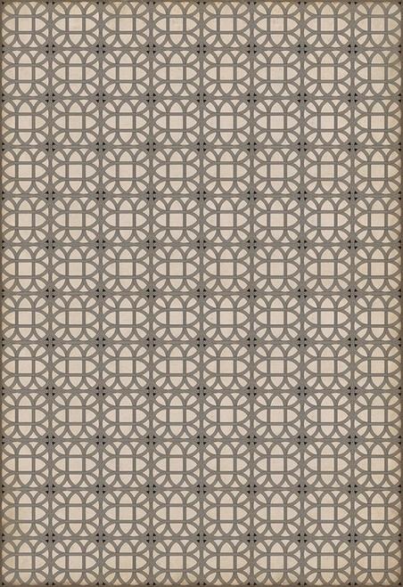 14153 LAMERIE LATTICE-JOSEPH WARD 120 X 175 Vinyl Floor Cloth