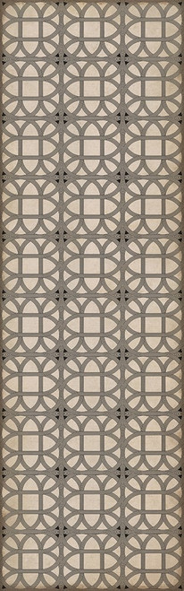 24367 LAMERIE LATTICE-JOSEPH WARD 36 X 115 Vinyl Floor Cloth