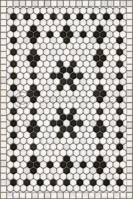33059 MOSAIC B - CLEMONT AVENUE 20 X 30 Vinyl Floor Cloth