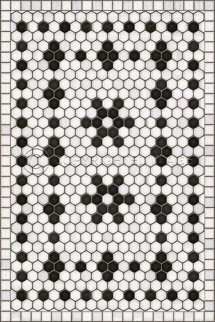 33059 MOSAIC B - CLEMONT AVENUE 20 X 30 Vinyl Floor Cloth