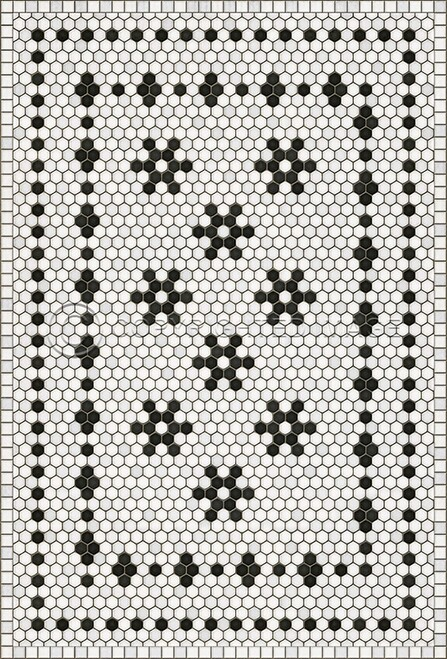 33060 MOSAIC B - CLEMONT AVENUE 38 X 56 Vinyl Floor Cloth