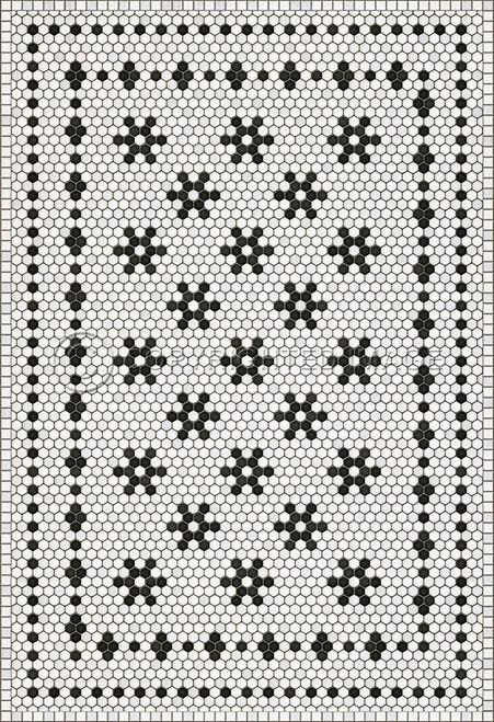 33061 MOSAIC B - CLEMONT AVENUE 52 X 76 Vinyl Floor Cloth