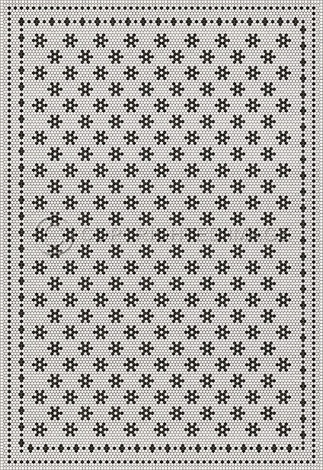 33064 MOSAIC B - CLEMONT AVENUE 120 X 175 Vinyl Floor Cloth