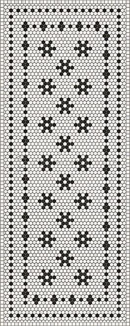 33065 MOSAIC B - CLEMONT AVENUE 36 X 90 Vinyl Floor Cloth