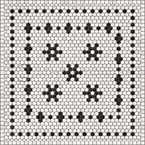 33067 MOSAIC B -CLEMONT AVENUE 36 X 36 Vinyl Floor Cloth