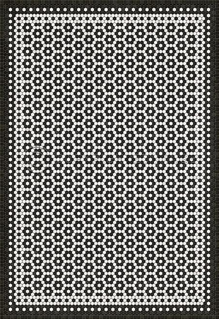 33076 MOSAIC C-CATHERINE STREET 70 X 102 Vinyl Floor Cloth