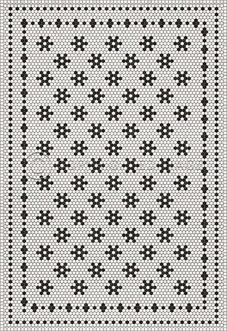 33062 MOSAIC B- LEMONT AVENUE 70 X 102 Vinyl Floor Cloth