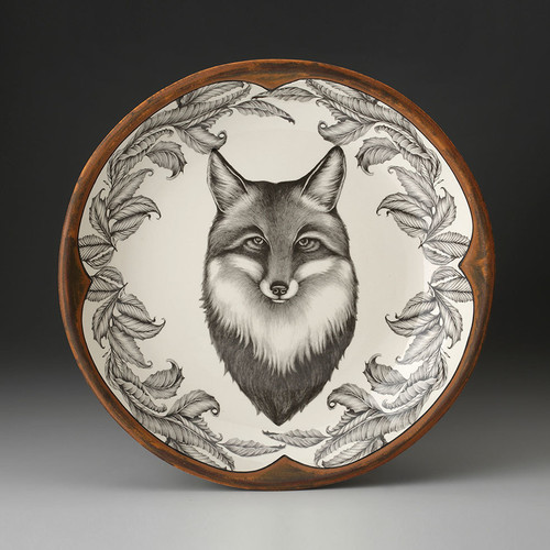 Fox Small Round Platter by Laurel Zindel