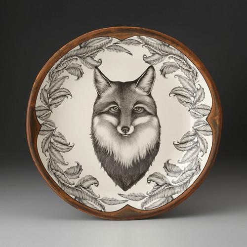 Fox Small Round Platter by Laurel Zindel