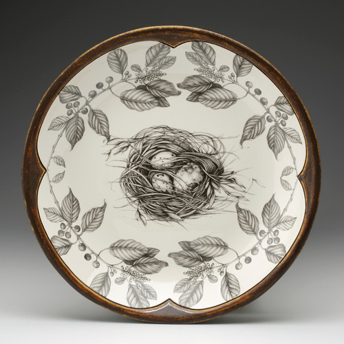 Quail Nest Small Round Platter by Laurel Zindel