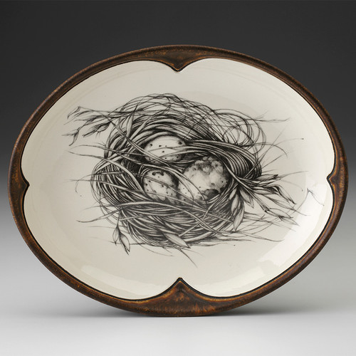 Small Serving Dish: Quail Nest by Laurel Zindel