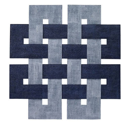 Celtic Navy Ice Blue Placemats Set of 4