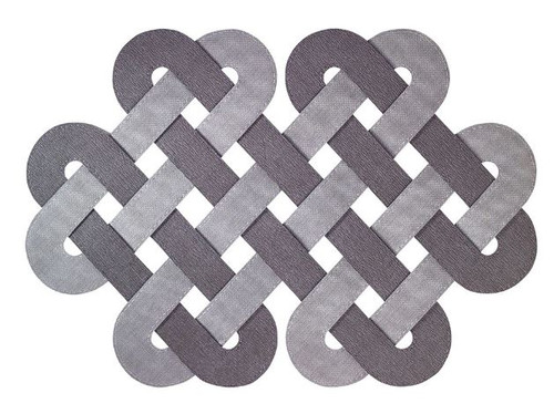 Gaelic Charcoal Gray Placemats Set of 8