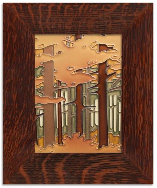 Framed 6x8 Autumn Woodland Motawi Tile