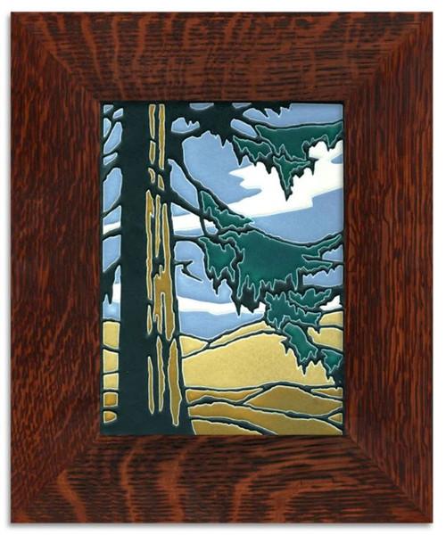 Framed 6x8 Redwood Motawi Tile