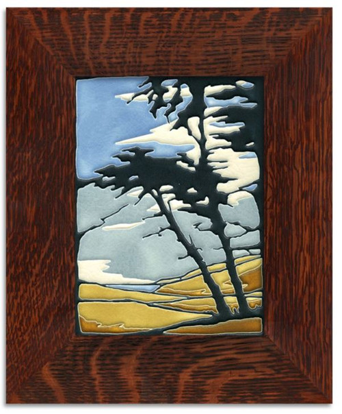 Framed 6x8 Montana de Oro Motawi Tile
