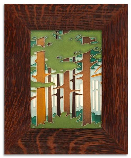 Framed 6x8 Spring Woodland Motawi Tile
