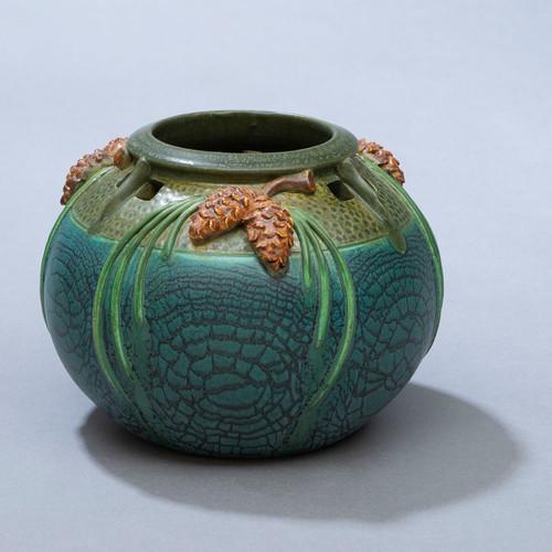 Craftsman Pine Ceramic Pottery Bowl by Ephriam Pottery