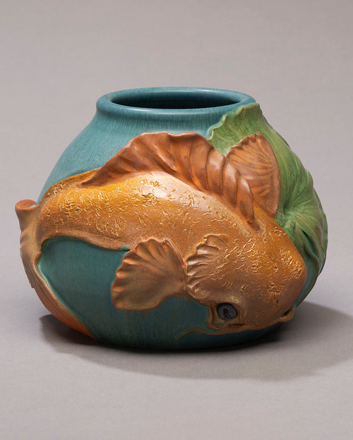 Sacred Koi Ceramic Pottery Vase by Ephriam Pottery