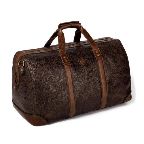 Theodore Espresso Leather Duffle Bag