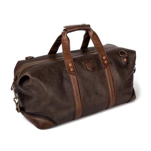 Theodore Espresso Leather Weekender Bag