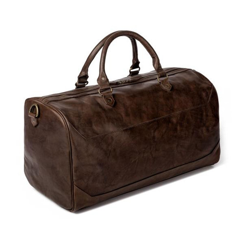 Benjamin Walnut Leather Duffle Bag