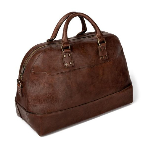 Heritage Leather Stateroom Smoke Weekender Bag