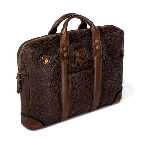 Theodore Espresso Leather Attache Bag
