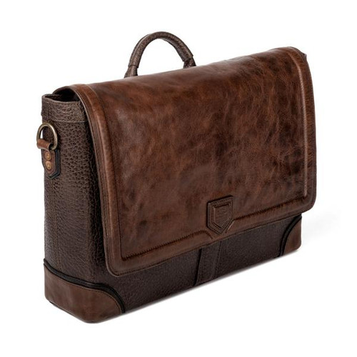 Theodore Espresso Leather Messenger Bag